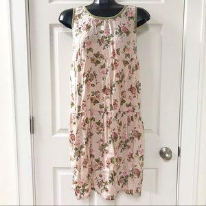 La Cera pink Floral Dress with Pockets